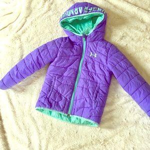 🦄Vivid Purple Under Armour Girls Puffer Size 5